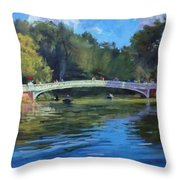 Summer Afternoon On The Lake, Central Park Throw Pillow