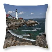 Summer Afternoon, Portland Headlight Throw Pillow