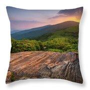 Summer Along The Appalachian Trail Throw Pillow