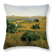 Summer At Shinnecock Hills Throw Pillow by William Merritt Chase