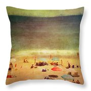Summer At The Cape Iv Throw Pillow