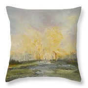 Summer At The City Throw Pillow