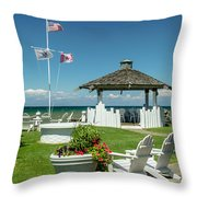 Summer At The Shore Throw Pillow