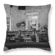 Summer Balcony In B W Throw Pillow
