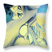 Summer Beach Abstract Throw Pillow