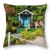 Summer Beach House Throw Pillow