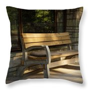 Summer Bench Throw Pillow
