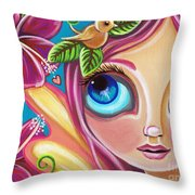 Summer Bliss Fairy Throw Pillow