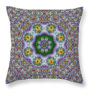 Summer Bloom In Floral Spring Time Throw Pillow