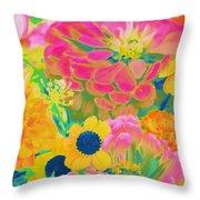 Summer Blossoms - Pop Art Throw Pillow