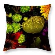 Summer Boquet Throw Pillow