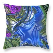 Summer Bouquet Rendition 3 Throw Pillow