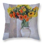 Summer Bouquet Throw Pillow