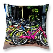Summer Bright Pedals Throw Pillow