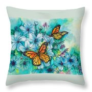 Summer Butterflies Throw Pillow