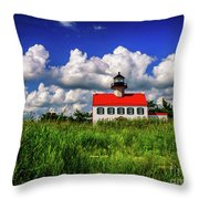 Summer Clouds At East Point Throw Pillow