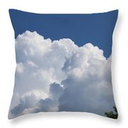 Summer Clouds In Maine Throw Pillow