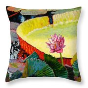Summer Colors On The Pond Throw Pillow