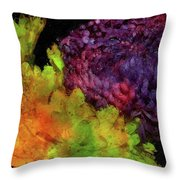 Summer Contrast Throw Pillow
