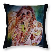 Summer Cool Throw Pillow