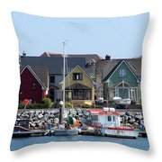 Summer Cottages Dingle Ireland Throw Pillow