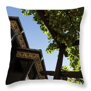 Summer Courtyard - Decorated Eaves And Grape Arbors In The Sunshine Throw Pillow