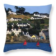 Summer Cove, Kinsale, Co Cork, Ireland Throw Pillow