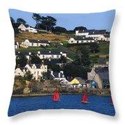 Summer Cove, Kinsale, Co Cork, Ireland Throw Pillow