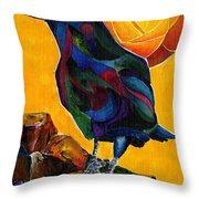 Summer Crow 2 Throw Pillow