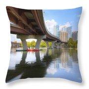 Summer Day At Lady Bird Lake In Austin Texas 1 Throw Pillow