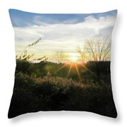 Summer Day Going Into Evening.  Throw Pillow