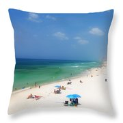 Summer Day In Florida Throw Pillow