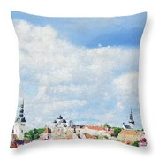 Summer Day In Tallinn Throw Pillow
