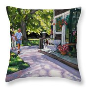 Summer Day On The Cape Throw Pillow by Laura Lee Zanghetti