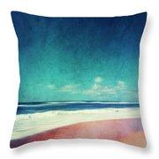 Summer Days IIi - Abstract Beach Scene Throw Pillow