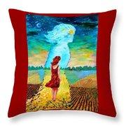 Summer Days On The Prairies Throw Pillow