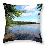 Summer Dreaming On Lake Umbagog  Throw Pillow