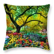 Summer Ends And Autumn Begins Throw Pillow