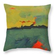 Summer Eve Bayside Throw Pillow