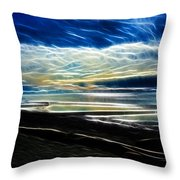 Summer Evening At The Beach Throw Pillow