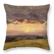 Summer Evening With Storm Clouds Throw Pillow