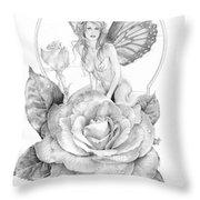 Summer Faerie - The Season Faeries Throw Pillow