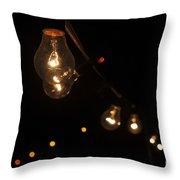 Summer Fair Lamps In Fuzeta Throw Pillow
