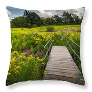 Summer Field Of Wildflowers Throw Pillow