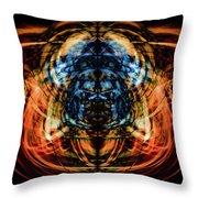 10643 Summer Fire Mask 43 - Logi Throw Pillow