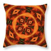 10697 Summer Fire Mask 54 Kaleidoscope 2 Throw Pillow