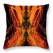 10658 Summer Fire Mask 58 - Dance Of The Fire Queen Throw Pillow