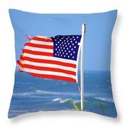 Summer Flag Throw Pillow