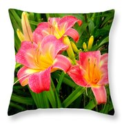 Summer Flame Throw Pillow
