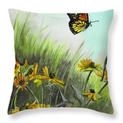 Summer Flight Throw Pillow